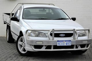 2006 Ford Falcon BF Mk II XL Super Cab White 4 Speed Automatic Cab Chassis.