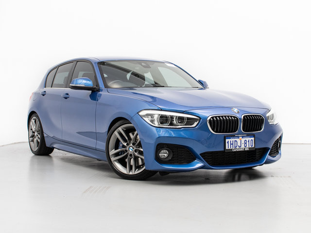 Used BMW 125i F20 LCI MY18 M Sport, 2017 BMW 125i F20 LCI MY18 M Sport Estoril Blue 8 Speed Automatic Hatchback