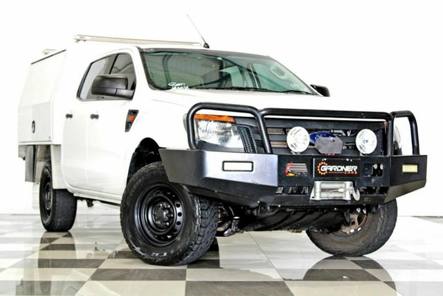 Used Ford Ranger PX XL 3.2 (4x4), 2014 Ford Ranger PX XL 3.2 (4x4) White 6 Speed Manual Dual Cab Chassis