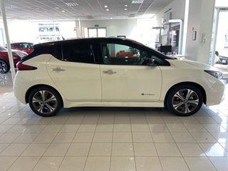 2019 Nissan Leaf ZE1 Ivory Pearl & Black Roof 1 Speed Reduction Gear Hatchback.