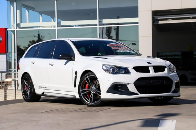 Used Holden Special Vehicles ClubSport Gen-F2 MY16 R8 Tourer LSA Liverpool, 2015 Holden Special Vehicles ClubSport Gen-F2 MY16 R8 Tourer LSA White 6 Speed Sports Automatic