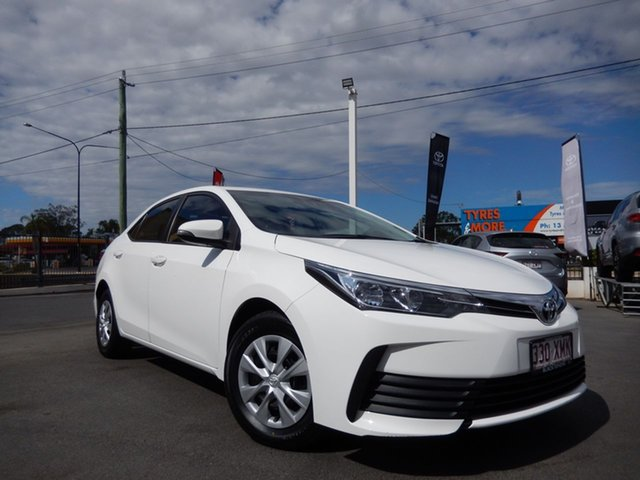Used Toyota Corolla ZRE172R MY17 Ascent, 2017 Toyota Corolla ZRE172R MY17 Ascent Glacier White 7 Speed CVT Auto Sequential Sedan
