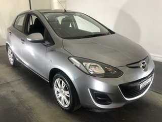 2013 Mazda 2 DE10Y2 MY13 Neo Silver 4 Speed Automatic Hatchback.