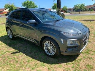 2017 Hyundai Kona OS MY18 Elite 2WD Dark Knight & Black Roof 6 Speed Sports Automatic Wagon.