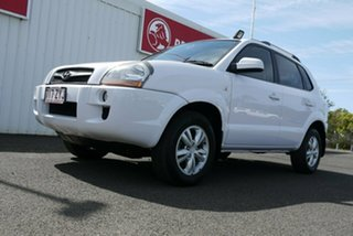 2009 Hyundai Tucson JM MY09 City SX White 5 Speed Manual Wagon.