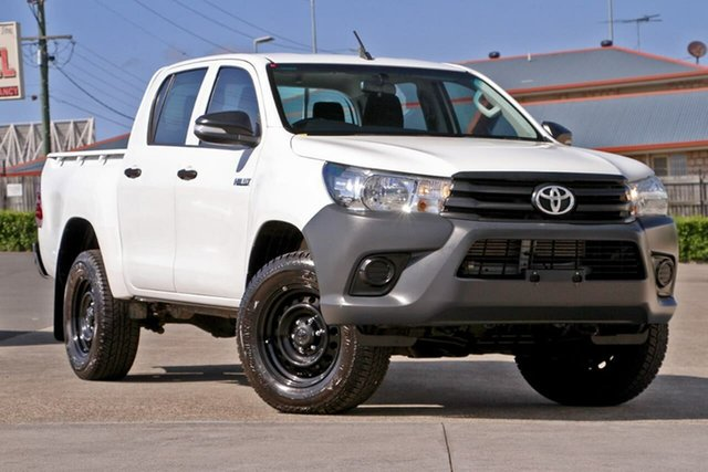 Used Toyota Hilux GUN125R Workmate Double Cab, 2016 Toyota Hilux GUN125R Workmate Double Cab White 6 Speed Sports Automatic Utility