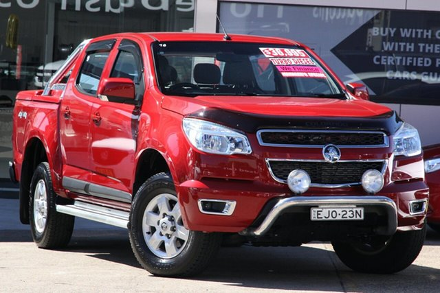 Used Holden Colorado RG MY16 LS-X (4x4), 2015 Holden Colorado RG MY16 LS-X (4x4) Red 6 Speed Automatic Crew Cab Pickup