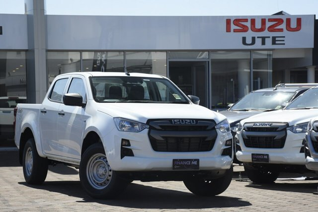 New Isuzu D-MAX RG MY21 SX Crew Cab Christies Beach, 2020 Isuzu D-MAX RG MY21 SX Crew Cab White 6 Speed Sports Automatic Utility