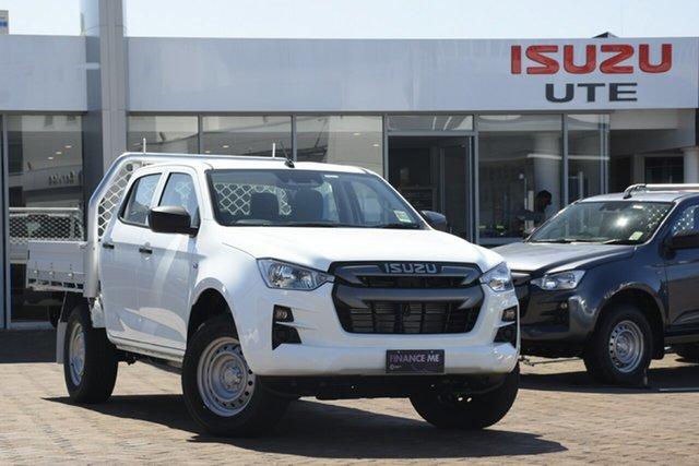 New Isuzu D-MAX TF MY21 SX (4x2) Wangaratta, 2020 Isuzu D-MAX TF MY21 SX (4x2) Mineral White 6 Speed Auto Seq Sportshift Crew Cab Chassis