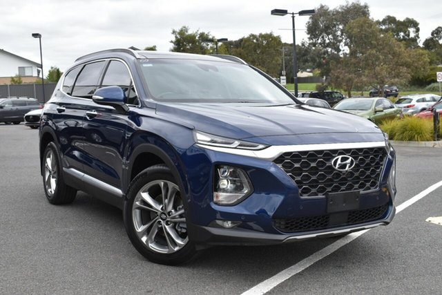 Used Hyundai Santa Fe TM MY19 Highlander Wantirna South, 2018 Hyundai Santa Fe TM MY19 Highlander Blue 8 Speed Sports Automatic Wagon