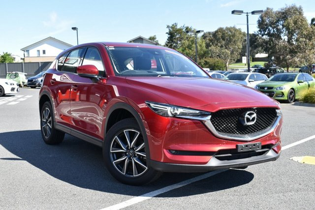 Used Mazda CX-5 KF4W2A GT SKYACTIV-Drive i-ACTIV AWD, 2018 Mazda CX-5 KF4W2A GT SKYACTIV-Drive i-ACTIV AWD Red/Black 6 Speed Sports Automatic Wagon