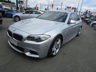 2012 BMW 5 Series F10 MY0911 520d Steptronic Silver 8 Speed Sports Automatic Sedan.