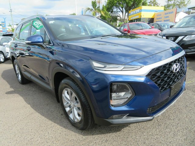 Used Hyundai Santa Fe TM MY19 Active, 2019 Hyundai Santa Fe TM MY19 Active Blue 8 Speed Sports Automatic Wagon