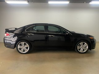 2008 Honda Accord 10 Euro Luxury Black 5 Speed Automatic Sedan.