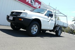 2006 Mitsubishi Triton MK MY06 GLX White 5 Speed Manual Cab Chassis.