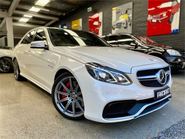 Used Mercedes-Benz E-Class W212 , 2014 Mercedes-Benz E-Class W212 E63 AMG S Diamond White Sports Automatic Sedan
