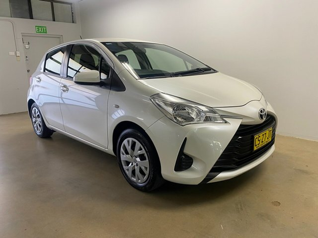 Used Toyota Yaris NCP130R MY17 Ascent, 2018 Toyota Yaris NCP130R MY17 Ascent White 4 Speed Automatic Hatchback