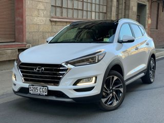 2019 Hyundai Tucson TL3 MY20 Highlander AWD White Pearl 8 Speed Automatic Wagon