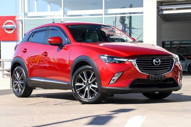 Used Mazda CX-3 DK4W7A Akari SKYACTIV-Drive i-ACTIV AWD Liverpool, 2015 Mazda CX-3 DK4W7A Akari SKYACTIV-Drive i-ACTIV AWD Soul Red 6 Speed Sports Automatic Wagon