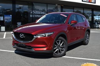 2018 Mazda CX-5 KF4W2A GT SKYACTIV-Drive i-ACTIV AWD Red/Black 6 Speed Sports Automatic Wagon.