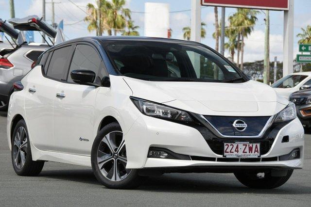 Used Nissan Leaf ZE1 , 2019 Nissan Leaf ZE1 White 1 Speed Reduction Gear Hatchback