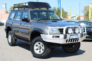2004 Nissan Patrol GU III MY2003 ST Gold 5 Speed Manual Wagon.