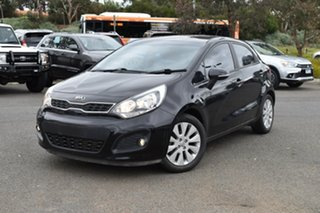 2014 Kia Rio UB MY14 SI Black 6 Speed Manual Hatchback.