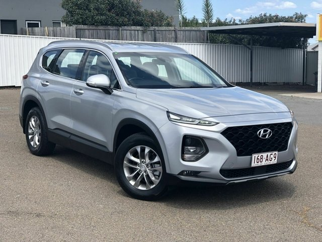 Used Hyundai Santa Fe TM MY19 Active Chermside, 2018 Hyundai Santa Fe TM MY19 Active Silver 8 Speed Sports Automatic Wagon