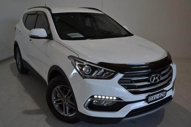 Used Hyundai Santa Fe DM4 MY18 Active, 2017 Hyundai Santa Fe DM4 MY18 Active White 6 Speed Sports Automatic Wagon