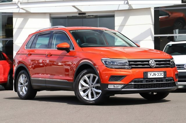 Used Volkswagen Tiguan 5N MY17 140TDI DSG 4MOTION Highline Sutherland, 2016 Volkswagen Tiguan 5N MY17 140TDI DSG 4MOTION Highline Orange 7 Speed