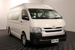 2015 Toyota HiAce TRH223R MY14 Commuter High Roof Super LWB French Vanilla 4 speed Automatic Bus.