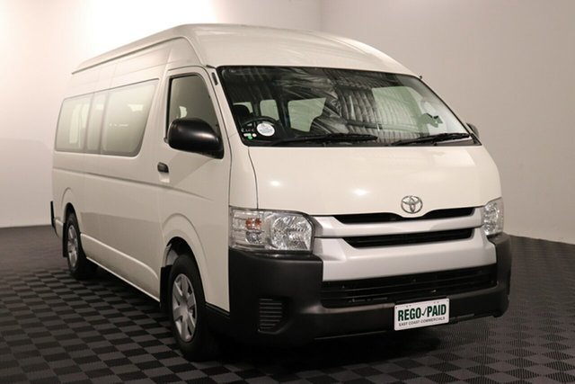Used Toyota HiAce TRH223R MY14 Commuter High Roof Super LWB Acacia Ridge, 2015 Toyota HiAce TRH223R MY14 Commuter High Roof Super LWB French Vanilla 4 speed Automatic Bus