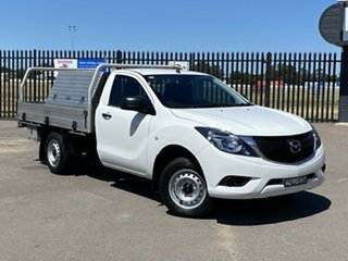 2017 Mazda BT-50 UR0YE1 XT 4x2 White 6 Speed Manual Cab Chassis.