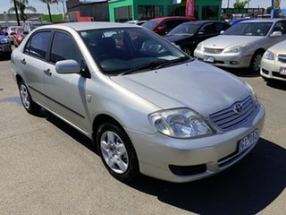 2005 Toyota Corolla ZZE122R Ascent Sport Silver & Army Green 4 Speed Automatic Sedan.