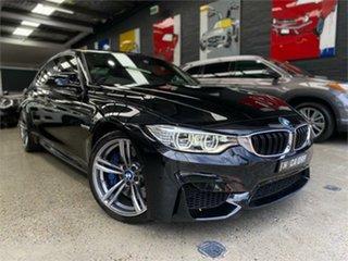 2015 BMW M3 F80 LCI Black 7 Speed Sports Automatic Dual Clutch Sedan.