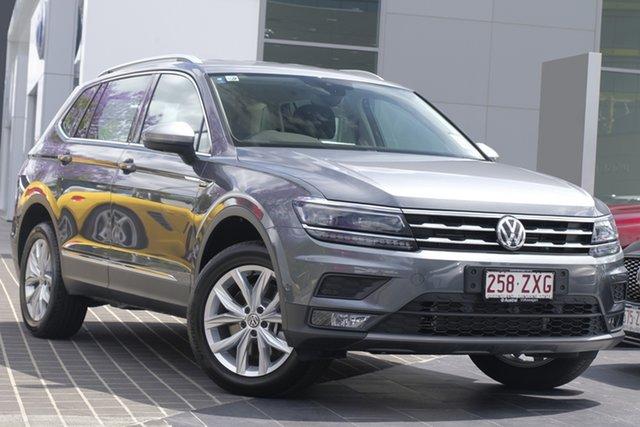 Demo Volkswagen Tiguan 5N MY20 132TSI Comfortline DSG 4MOTION Allspace, 2019 Volkswagen Tiguan 5N MY20 132TSI Comfortline DSG 4MOTION Allspace Platinum Grey 7 Speed