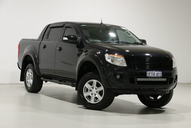 Used Ford Ranger PX XLT 3.2 (4x4), 2015 Ford Ranger PX XLT 3.2 (4x4) Black 6 Speed Automatic Double Cab Pick Up