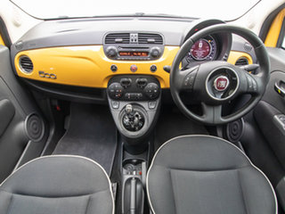 2016 Fiat 500 MY14 Lounge Yellow 5 Speed Automatic Hatchback