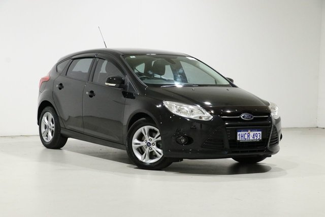 Used Ford Focus LW MK2 MY14 Trend, 2014 Ford Focus LW MK2 MY14 Trend Black 6 Speed Automatic Hatchback