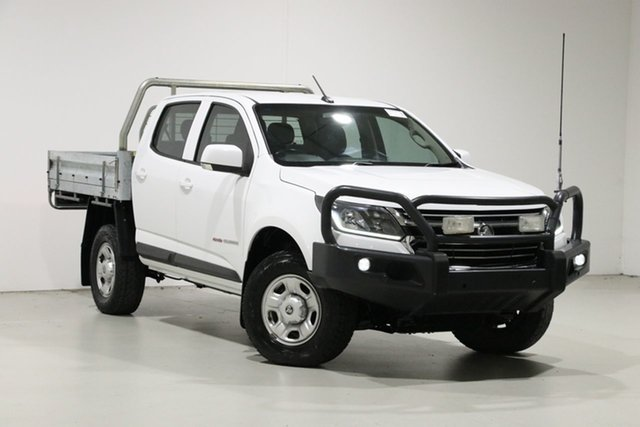 Used Holden Colorado RG MY17 LS (4x4), 2016 Holden Colorado RG MY17 LS (4x4) White 6 Speed Manual Crew Cab Chassis