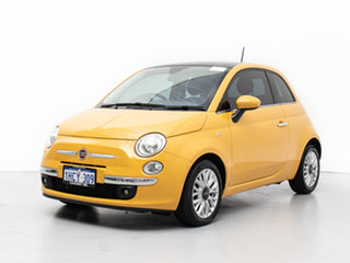 2016 Fiat 500 MY14 Lounge Yellow 5 Speed Automatic Hatchback.