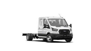 2020 Ford Transit VO 2020.50MY 470E Frozen White 6 Speed Manual Double Cab Chassis.