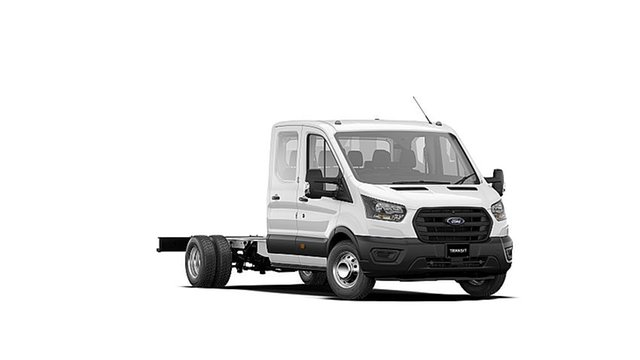 New Ford Transit VO 2020.50MY 470E Deer Park, 2020 Ford Transit VO 2020.50MY 470E Frozen White 6 Speed Manual Double Cab Chassis