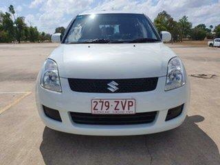 2009 Suzuki Swift RS415 S White 5 Speed Manual Hatchback.