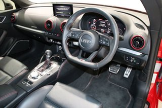 2017 Audi S3 8V MY17 2.0 TFSI S Tronic Quattro Red 7 Speed Auto S-Tronic Cabriolet