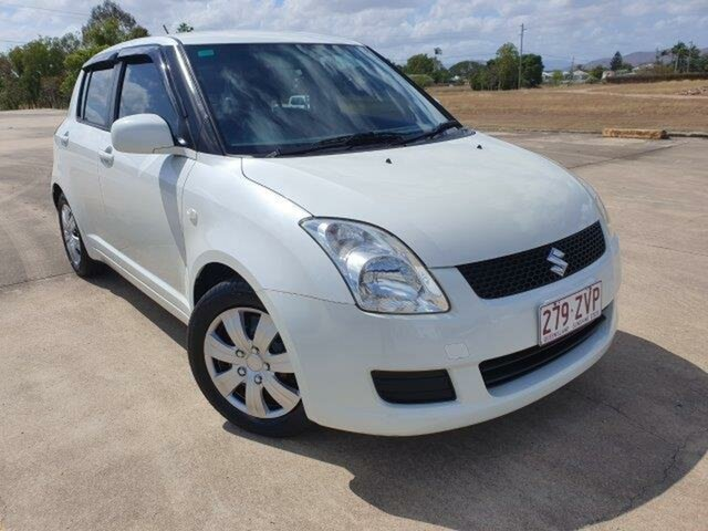 Used Suzuki Swift RS415 S, 2009 Suzuki Swift RS415 S White 5 Speed Manual Hatchback
