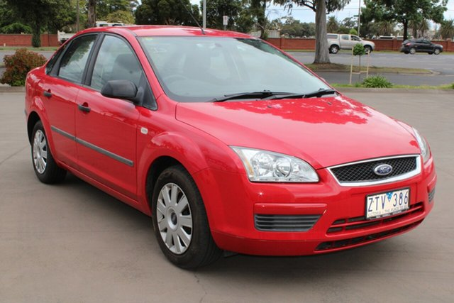 Used Ford Focus LS CL West Footscray, 2006 Ford Focus LS CL Red 5 Speed Manual Sedan
