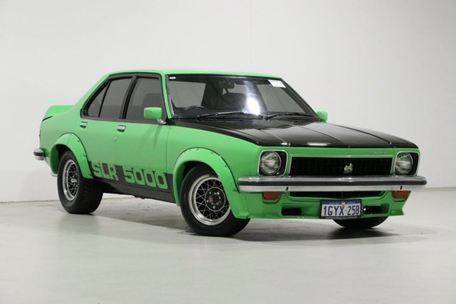 Used Holden Torana LX SL/R 5000, 1977 Holden Torana LX SL/R 5000 Green 4 Speed Manual Sedan