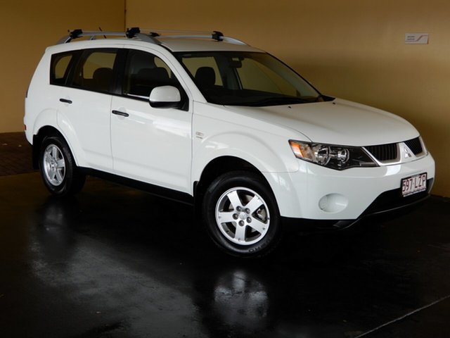 Used Mitsubishi Outlander ZG MY09 LS, 2008 Mitsubishi Outlander ZG MY09 LS White 6 Speed CVT Auto Sequential Wagon