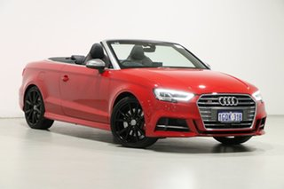 2017 Audi S3 8V MY17 2.0 TFSI S Tronic Quattro Red 7 Speed Auto S-Tronic Cabriolet.